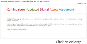 Comming soon - new digital access agreement