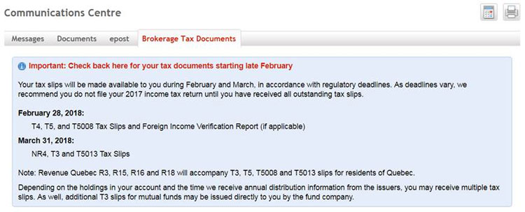 Communications Center - Get online access to tax documents